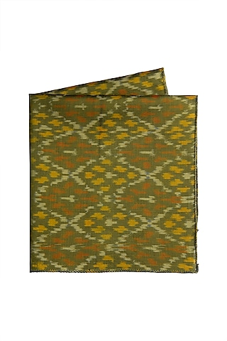 Green Ikat Pocket Square by Closet Code