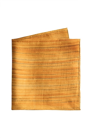 Yellow Shimmery Pocket Square by Closet Code
