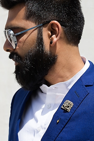 Antique Gold Finish Lapel Pin by Cosa Nostraa