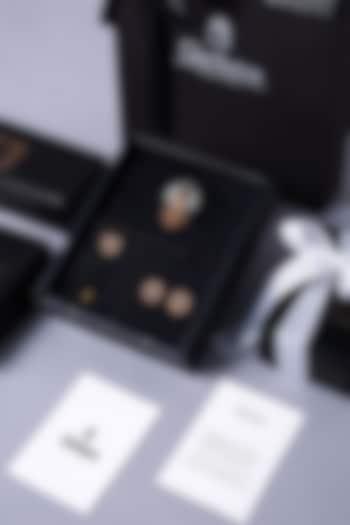 Dual Tone Brass Cufflink Set by Cosa Nostraa