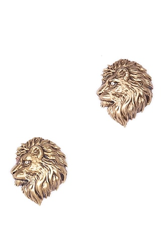 Antique Gold Almighty Lion Brooch Set by Cosa Nostraa