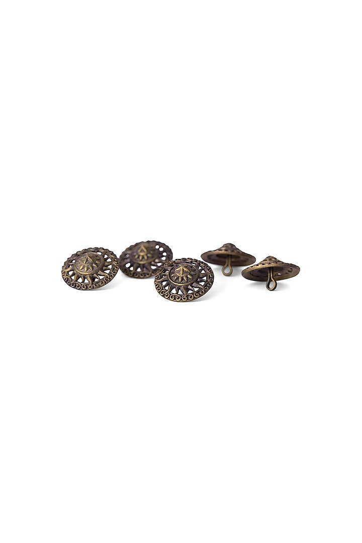 Antique Gold Finish Armour Inspired Buttons by Cosa Nostraa
