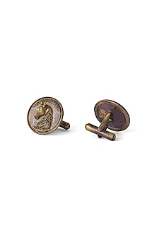 Antique Gold Finish Vintage Horse Cufflinks by Cosa Nostraa