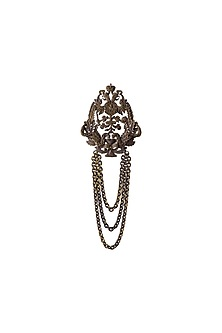 Antique Gold Finish Miltiades Brooch by Cosa Nostraa