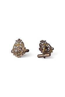 Antique Gold Finish Crafted Miltiades Cufflinks by Cosa Nostraa