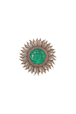Antique Gold Finish Sun Brooch by Cosa Nostraa