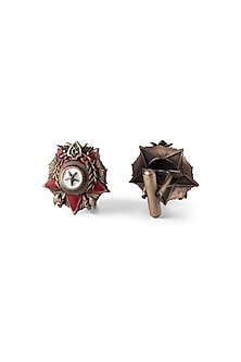 Antique Gold Finish Hannibal Cufflinks by Cosa Nostraa