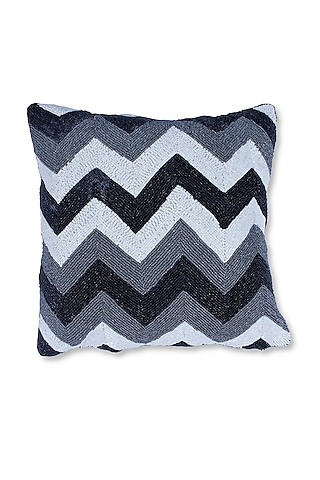 White Canvas Cotton & Satin Handcrafted Cushion by Coco bee