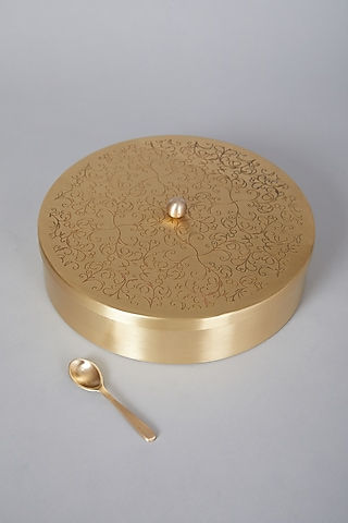 Champagne Gold Indian Spicebox by Conscious Co