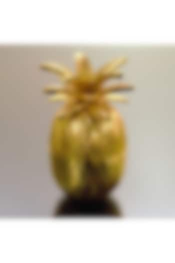 Gold Pineapple Decor Bowl With Detailing by Conscious Co