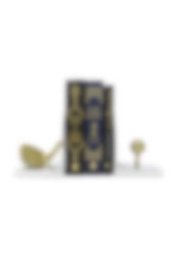 Silver & Gold Golf Themed Bookends (Set of 2) by Conscious Co