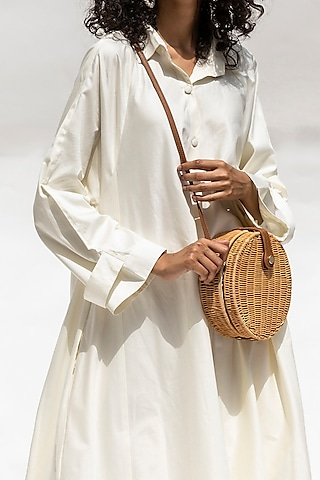 White Coat Dress With Belt by Corpora Studio