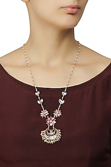 Gold Plated Navratna Necklace by Suneet Varma X Crystals From Swarovski