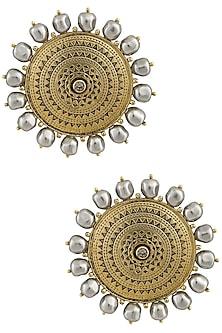 Ranas Of Kutch Sun Gods Ear Studs by JJ Valaya X Crystals From Swarovski
