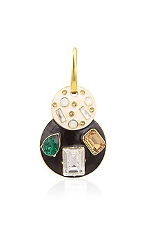 Gold Plated Emerald Jazz Pendant Necklace by Shivan & Narresh X Crystals From Swarovski