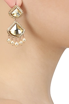 Swarovski Curated Gold Plated Celestial Earrings by Suneet Varma X Crystals From Swarovski