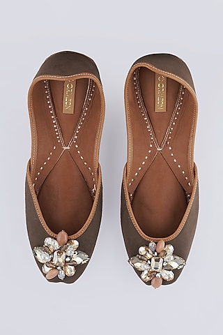 Faune Juttis With Crystal Flowers by Crimzon