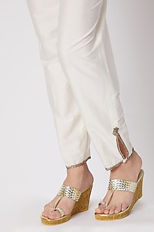 Silver & Gold Faux Leather Wedges by Crimzon