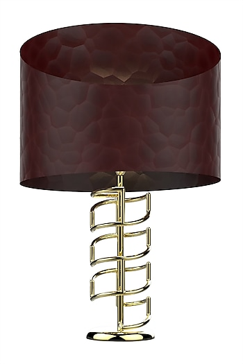 Golden Lucent Metal & Glass Table Lamp  by CLEARTE