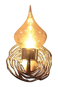 Golden Swirl Metal & Glass Wall Sconce  by CLEARTE