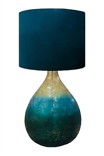 Orange Chiaro Glass & Silk Table Lamp by CLEARTE