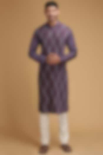 Purple Pintux Kurta Set by Chatenya Mittal