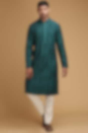 Green Pintux Kurta Set by Chatenya Mittal