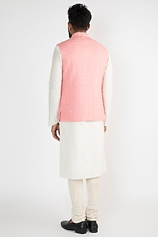 Pink Embroidered Nehru Jacket by Chatenya Mittal