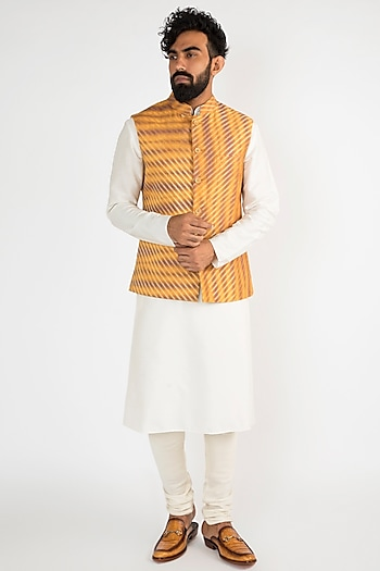 Multi Colored Tie-Dyed Nehru Jacket by Chatenya Mittal