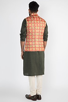 Multi Colored Printed Nehru Jacket by Chatenya Mittal