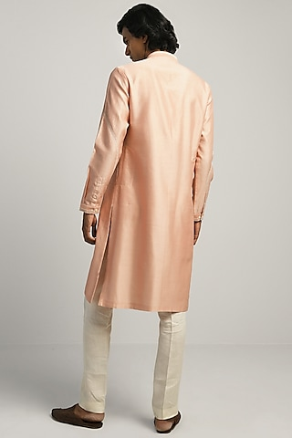 Dusty Pink Hand Embroidered Kurta by Countrymade