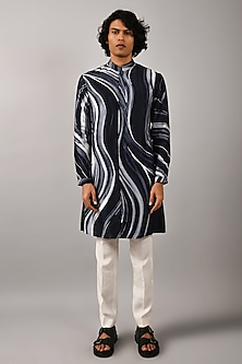 Multi Colored Front Open Kurta by Countrymade