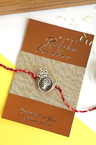 Pure Silver Coin Rakhi by  Crafted For You by Megha Handa
