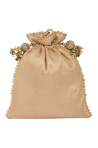 Gold Thread Embroidered Bag by Crazy Palette