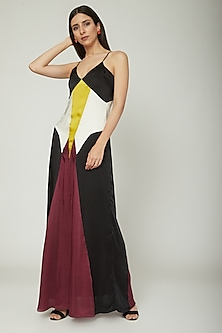 Multi Colored Slip Dress by Sameer Madan