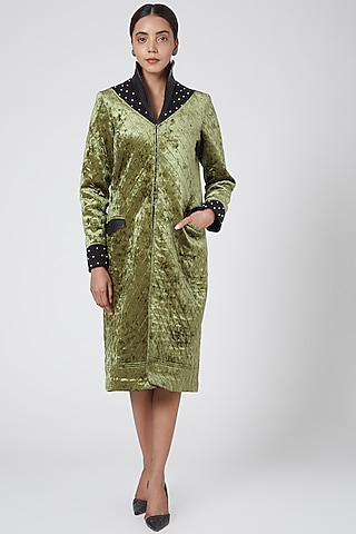 Emerald Green Embellished Jacket by Sameer Madan