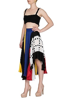 Multi Colored Printed Handkerchief Skirt by Sameer Madan