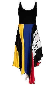 Multi Colored Ganji Dress by Sameer Madan