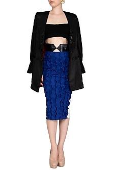Blue Pencil Skirt by Sameer Madan