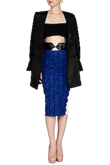 Blue Pencil Skirt by Sameer Madan