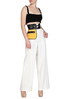 White High Waisted Pants by Sameer Madan