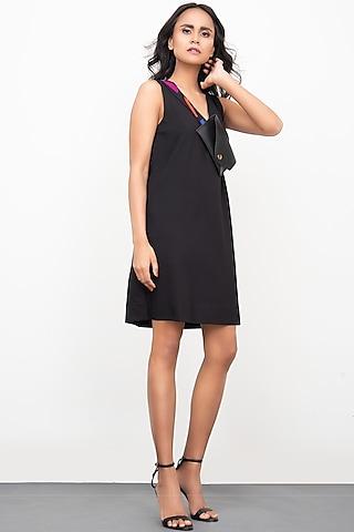 Black Shift Dress by Deepika Arora