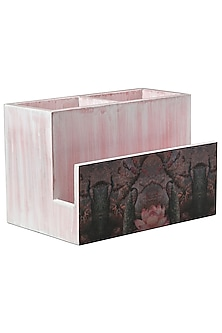 Pink & White Wooden Organiser  by Artychoke