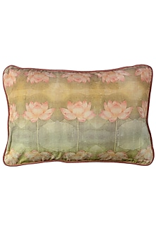 Pink & Green Canvas Cushion Covers (Set of 2) by Artychoke