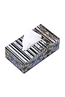 Black Horse Monochrome Tissue Box by Artychoke