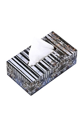 Black Horse Monochrome Tissue Box by Artychoke