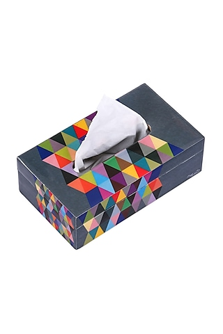 Multi Colored Triad Tissue Box by Artychoke