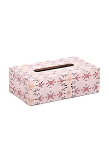 Pastel Pink Wooden Tissue Box by Artychoke