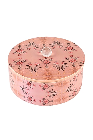 Pastel Pink Enameled Box by Artychoke