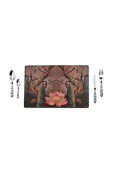 Wine Peacock Table Mats (set of 8) by Artychoke